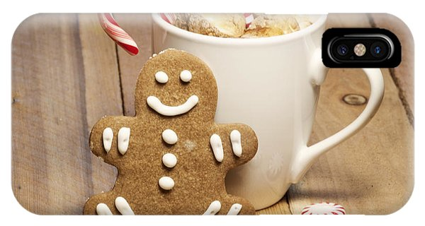 Hot Chocolate Toasted Marshmallows And A Gingerbread Cookie IPhone Case