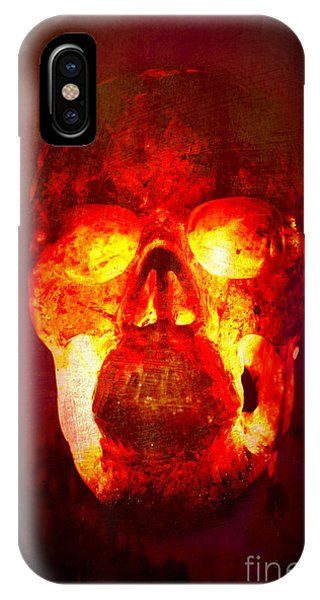 Hot Headed Skull IPhone Case