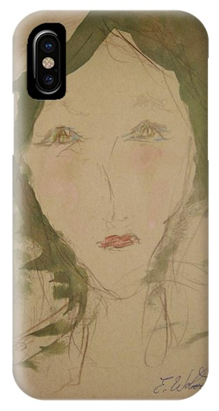 Hot Lips In Silence Phone Case by Edward Wolverton