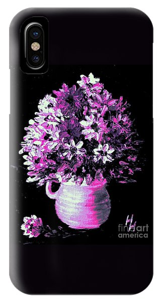 Hot Pink Flowers IPhone Case