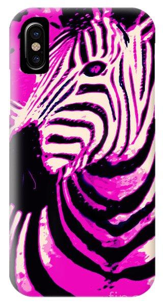 Hot Pink Zebra  IPhone Case
