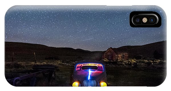 Bodie Ghost Town iPhone Case - Hot Rod Nights by Cat Connor