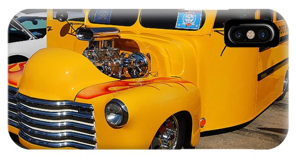 Hot Rod School Bus IPhone Case
