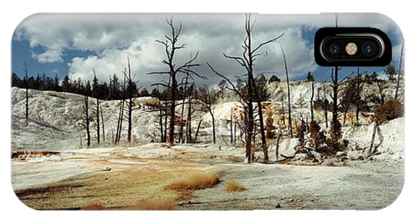 Mammoth Hot Springs iPhone Case - Hot Spring On A Landscape, Angel by Panoramic Images
