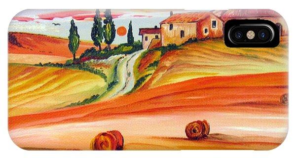 Hot Summer Tuscany Sunset IPhone Case