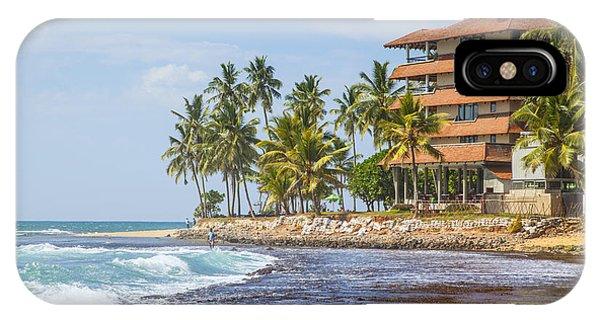 Tropes iPhone Case - Hotel At The Hikkaduwa Beach  by Gina Koch