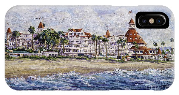 Hotel Del Beach IPhone Case