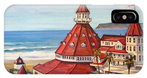 Coronado iPhone Case - Hotel Del Coronado From Above by Robert Gerdes