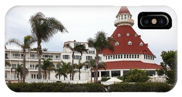 Coronado iPhone Case - Hotel Del Coronado In Coronado California 5d24238 by Wingsdomain Art and Photography