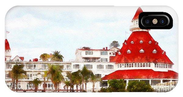 Coronado iPhone Case - Hotel Del Coronado In Coronado California 5d24256wcstyle by Wingsdomain Art and Photography