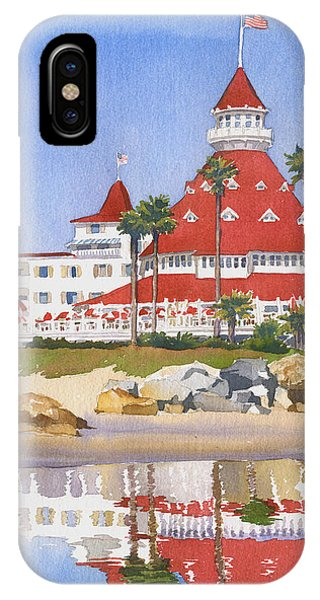 California iPhone Case - Hotel Del Coronado Reflected by Mary Helmreich
