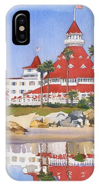 Hotel Del Coronado Reflected IPhone Case