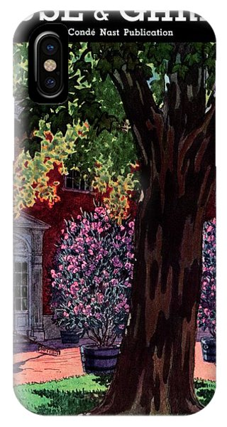 House & Garden Cover Illustration Of A Gardener IPhone Case