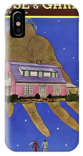 House & Garden Cover Illustration Of A Giant Hand IPhone Case