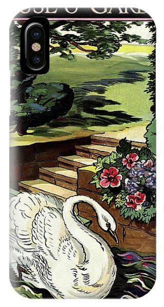 House & Garden Cover Illustration Of A Swan IPhone Case