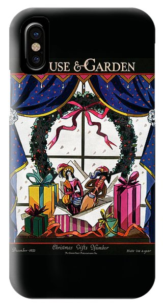 Magazine Cover iPhone Case - House & Garden Cover Illustration Of Christmas by Joseph B. Platt