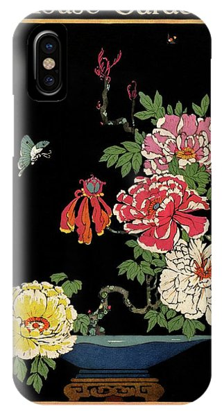 House & Garden Cover Illustration Of Peonies IPhone Case