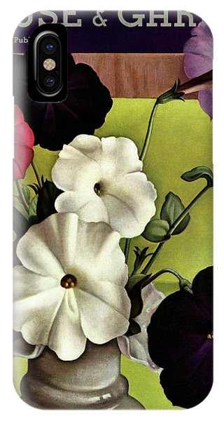 House & Garden Cover Illustration Of Petunias IPhone Case