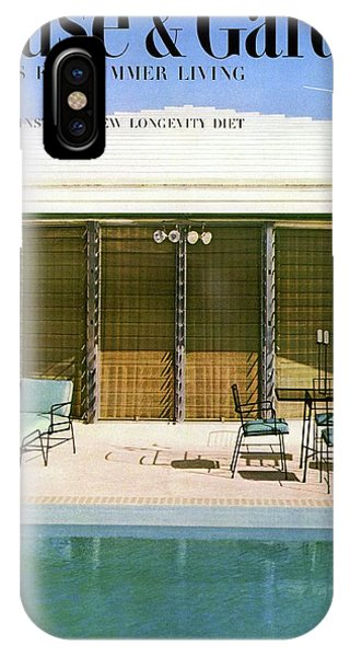House & Garden Cover Of A Swimming Pool At Miami IPhone Case