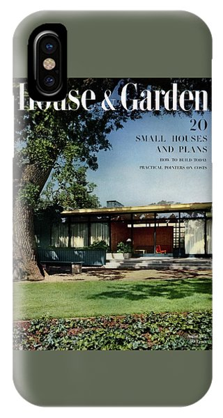 Magazine Cover iPhone Case - House & Garden Cover Of The Kurt Appert House by Ernest Braun