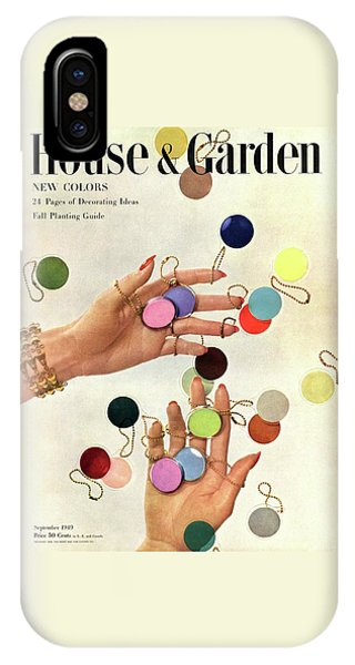 Magazine Cover iPhone Case - House & Garden Cover Of Woman's Hands With An by Herbert Matter