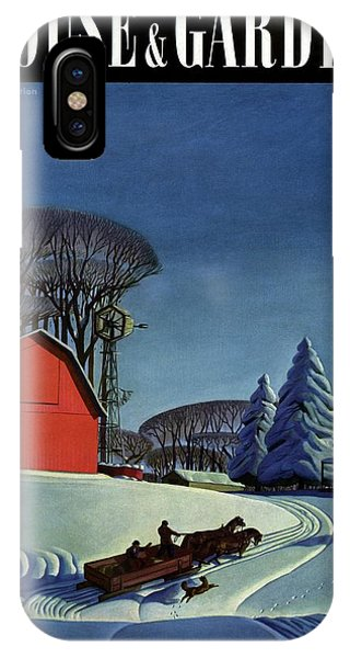 House And Garden Christmas Decoration Cover IPhone Case