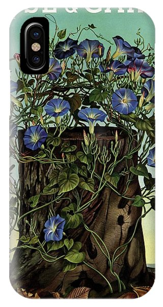 House And Garden Cover Featuring Flowers Growing IPhone Case