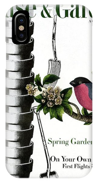 House And Garden Cover Featuring Pots And A Bird IPhone Case