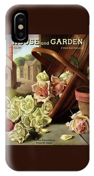 Magazine Cover iPhone Case - House And Garden Cover Of An Upturned Basket by John C. E. Taylor