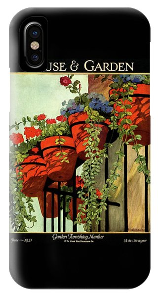 Magazine Cover iPhone Case - House And Garden Garden Furnishing Number Cover by Ethel Franklin Betts Baines