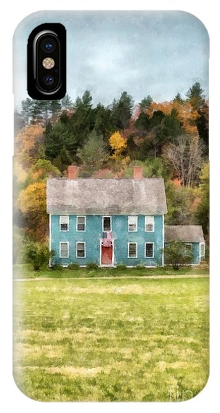 New England Fall Foliage iPhone Case - House By The Woods by Edward Fielding