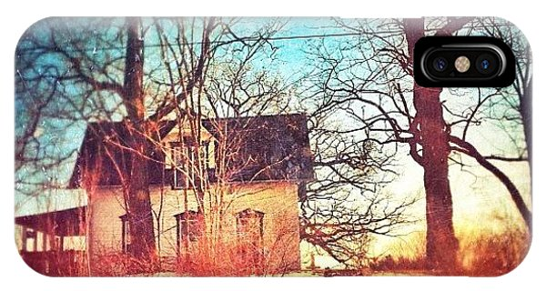 House iPhone Case - #house #home #old #farm #abandoned by Jill Battaglia