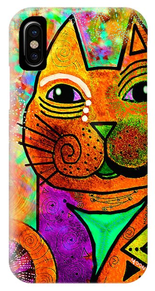 Imagination iPhone Case - House Of Cats Series - Blinks by Moon Stumpp