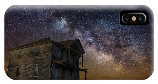 Abandoned Houses iPhone Case - House On The Hill   Remastered by Aaron J Groen