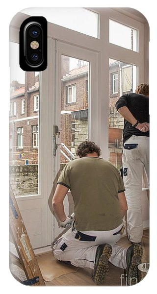 It Professional iPhone Case - House Painters At Work by Patricia Hofmeester