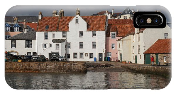 Houses At Pittenweem Harbor IPhone Case