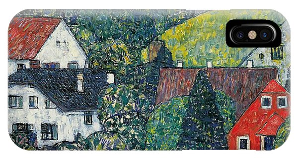 Town iPhone Case - Houses At Unterach On The Attersee by Gustav Klimt
