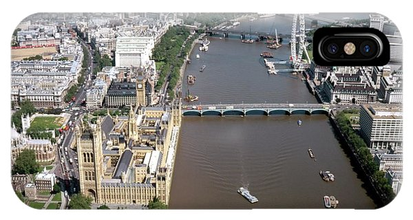 London Eye iPhone Case - Houses Of Parliament by Alex Bartel/science Photo Library