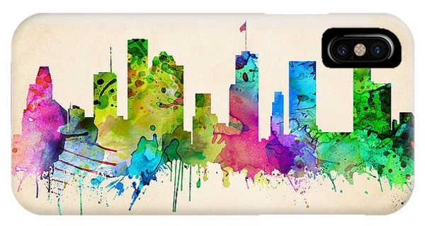 Houston Cityscape IPhone Case