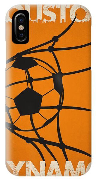 Soccer iPhone Case - Houston Dynamo Goal by Joe Hamilton