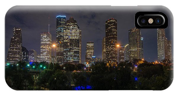 Houston Skyline At Night IPhone Case