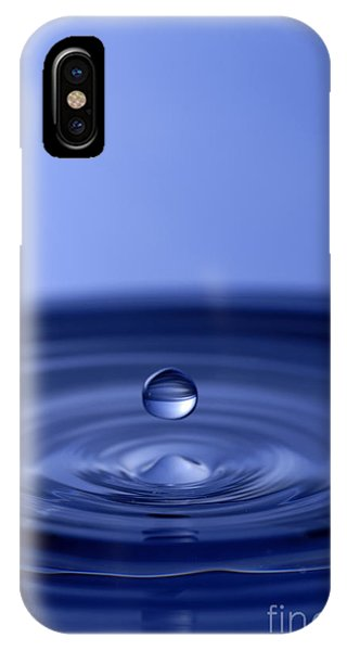 Hovering Blue Water Drop IPhone Case