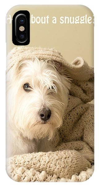 Valentine iPhone Case - How About A Snuggle Card by Edward Fielding