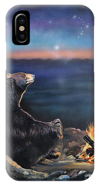 Spirit iPhone Case - How Grandfather Bear Created The Stars by J W Baker