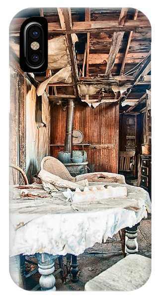 Bodie Ghost Town iPhone Case - How Long Until Breakfast by Cat Connor