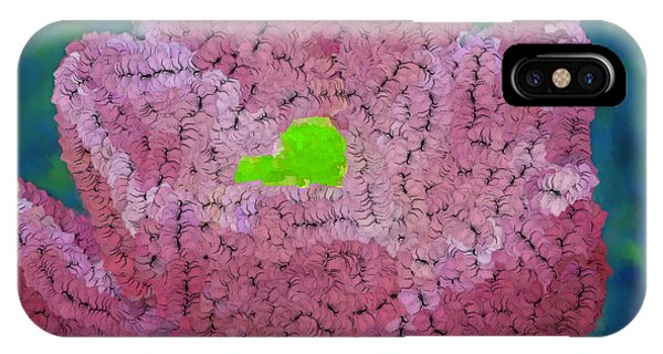 How Things Were Teal Pink Neon Green Phone Case by Holley Jacobs