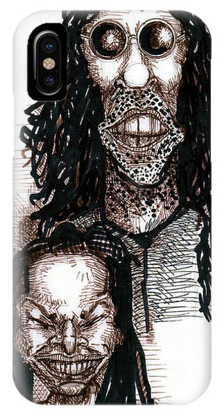 Howard Stern iPhone Case - Howard Stern And Robin Quivers by Del Gaizo