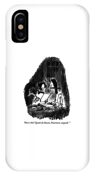 Raven iPhone Case - How's This?  'quoth The Raven by Robert Weber