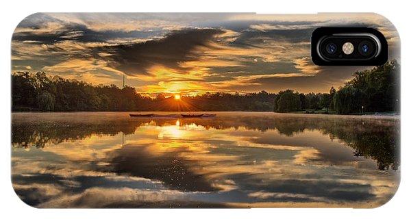 Hoyt Lake Sunrise IPhone Case