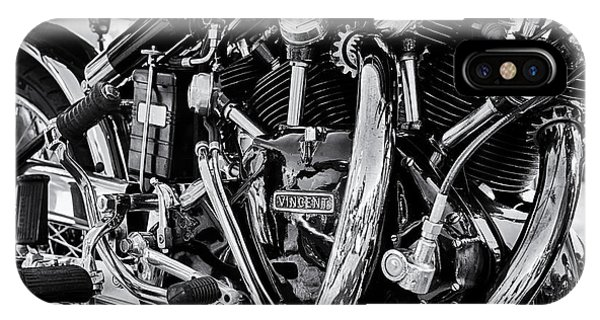 Hrd Vincent Motorcycle Engine IPhone Case